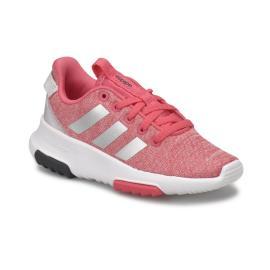 حذاء رياضي بناتي باللون الزهري الفاتح مضاف اليه اللون الابيض من ماركة اديداس