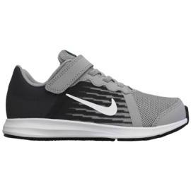 حذاء رياضي للاولاد باللونين الاسود و الفضي من ماركة نايك