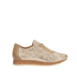 سنيكر - الحذاء الذهبي جلد طبيعي 100%