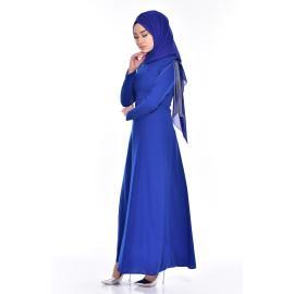 فستان يومي للمحجبات أزرق ملكي