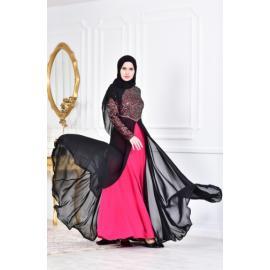 فستان الحفلات للمحجبات فوشي