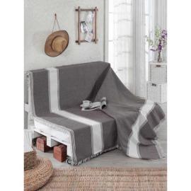 غطاء اريكة بالون الفضي و الابيض