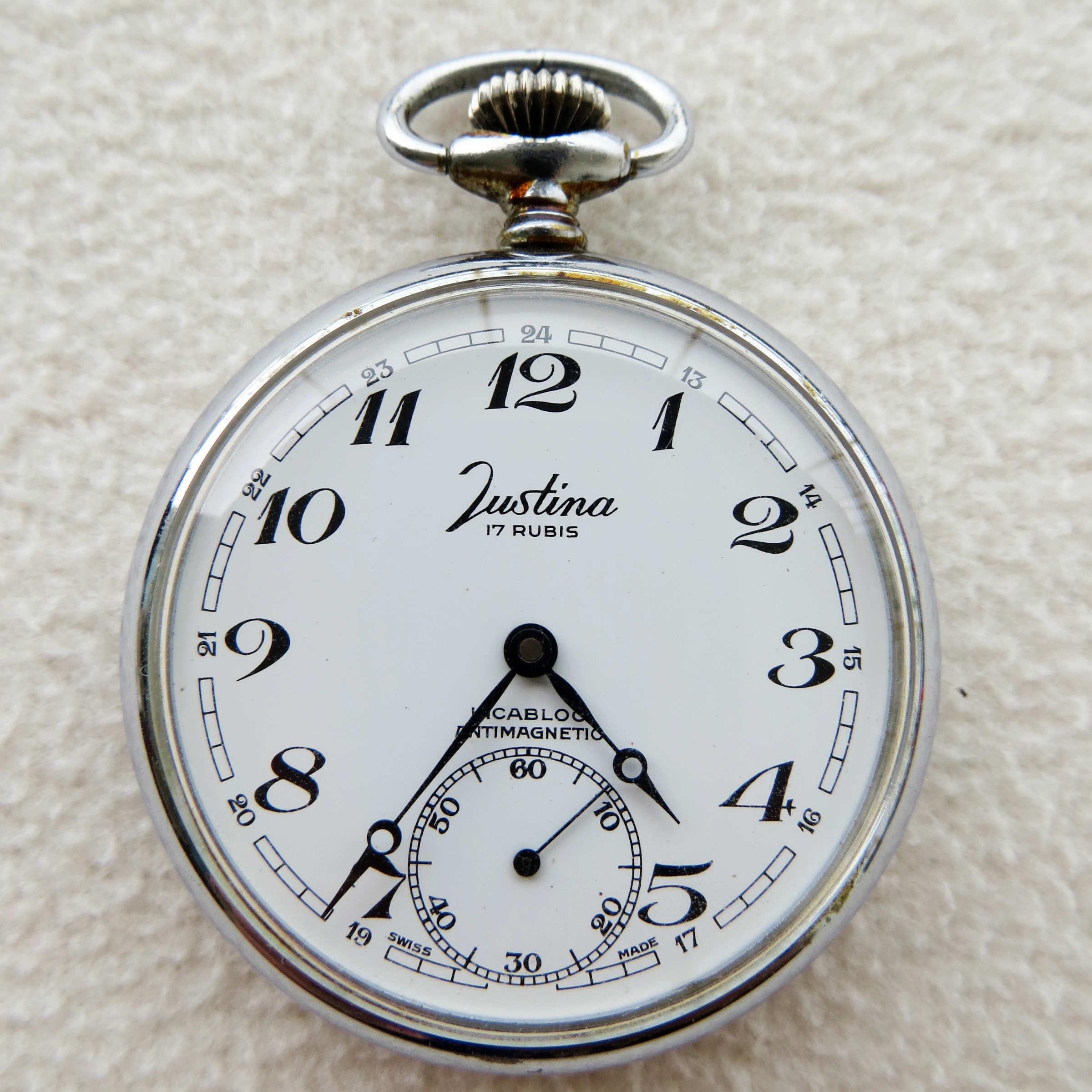 فينتاج جوستينا ساعة الجيب