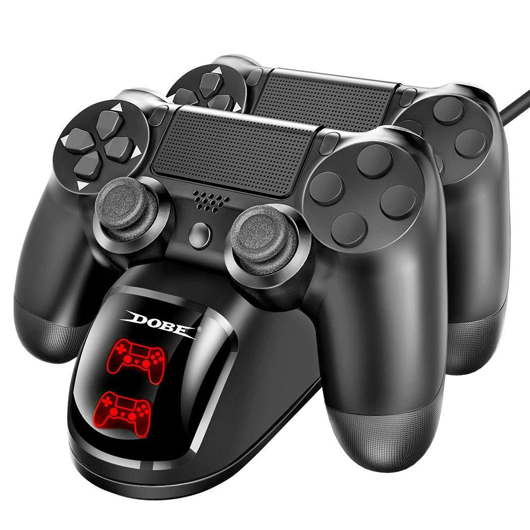 شاحن OB DOBE PS4 دبل مع شاشة تحكم للشحن المقابض