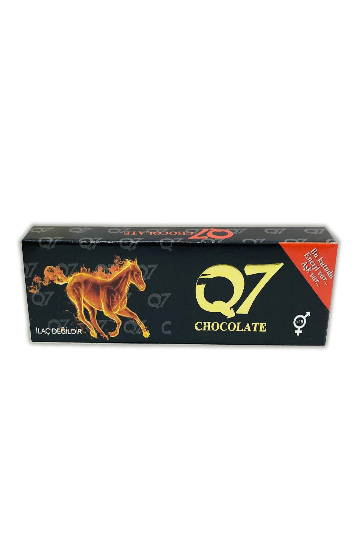 Q7 شوكولاتة الإثارة مع خلاصة الإبيميديوم والجنسنج للرجل والمرأة، 35 جرام، 12 قطعة