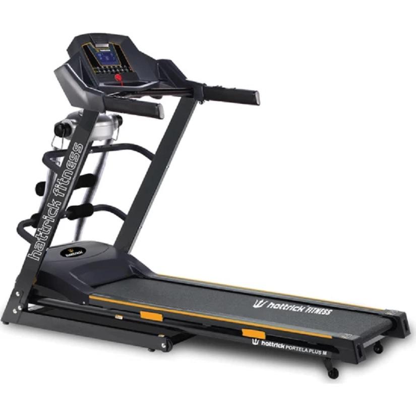 جهاز المشي الرياضي المنزلي Hattrick Portela Plus قوة المحرك 2,5 حصان  مع جهاز التدليك وشاشة ال سي دي